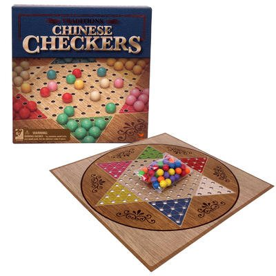 TRADITONAL CHINESE CHECKERS (Solid Wood Checkers)