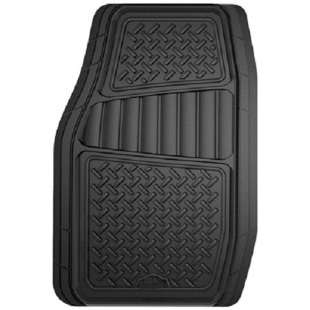 Suv Floor Mats >> Armor All 2 Piece Black Rubber Interior Truck Suv Floor Mat