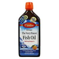 Carlson Labs The Very Finest Fish Oil Liquid, Orange, 16.9 oz.