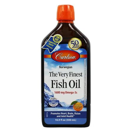 Carlson Labs The Very Finest Fish Oil Liquid, Orange, 16.9