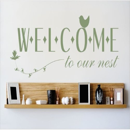 Design With Vinyl Welcome To Our Nest Wall Decal