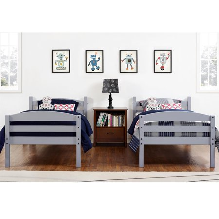 Better Homes and Gardens Leighton Twin Over Twin Wood Bunk Bed, Multiple Finishes