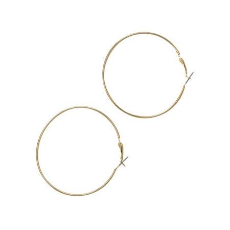 Classic Gold Metal Hoop Earrings