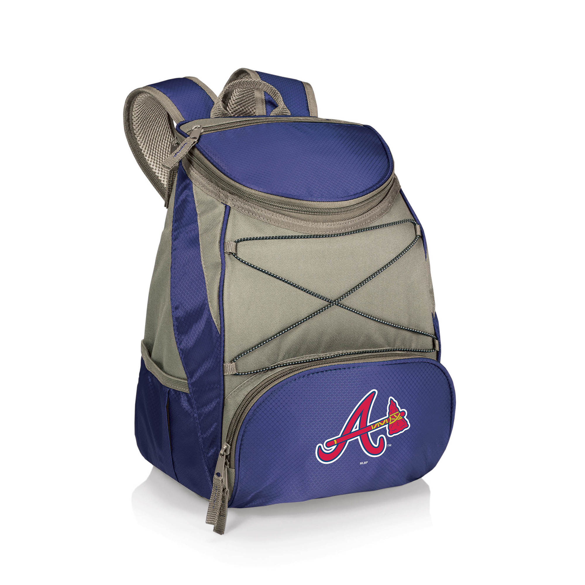 Atlanta Braves PTX Backpack Cooler - Navy - No Size