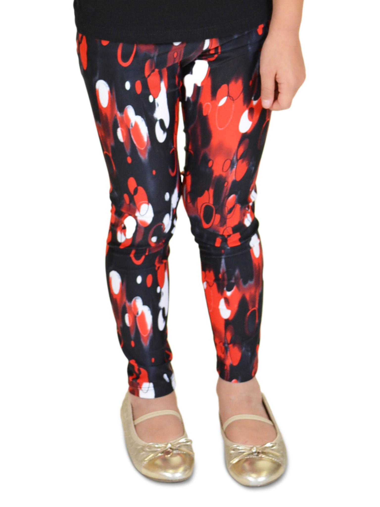 Girl's Print Leggings - Small (6) / Galaxy