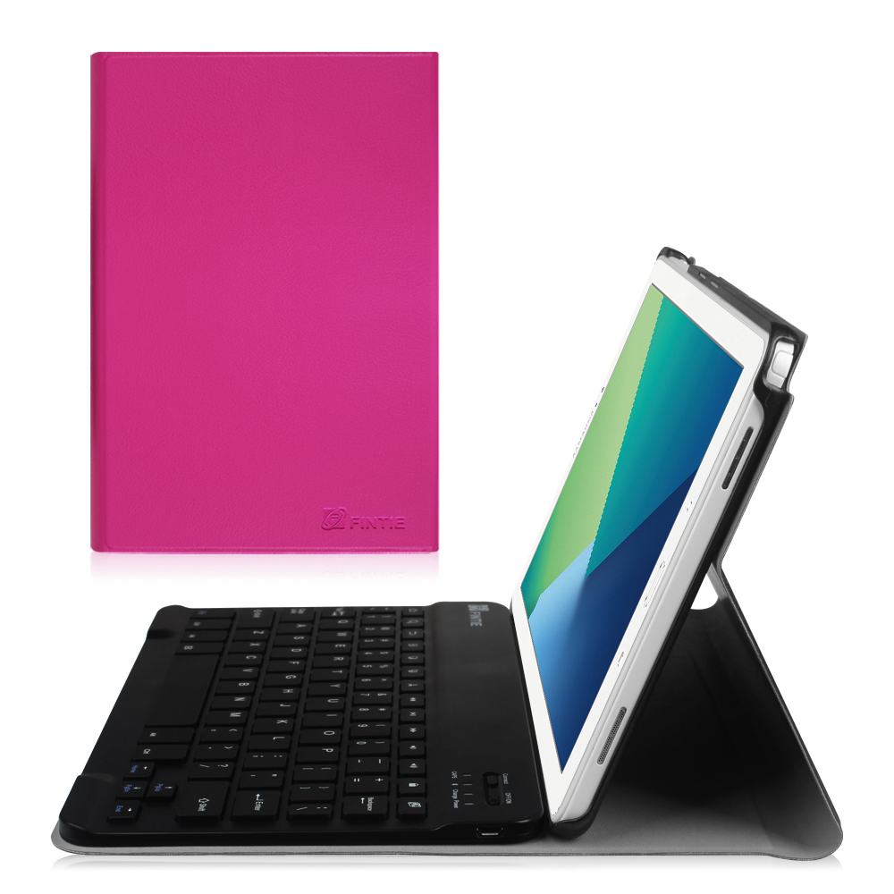 Fintie Samsung Galaxy Tab A 10.1 with S Pen Case - Slim Shell Stand Cover w/ Removable Bluetooth Keyboard, Magenta