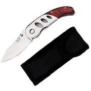Joy Enterprises FP36655 Fury Envoy Razor Edge Folding Pocket Knife with Pakka and Stainless Handle, 3.75""