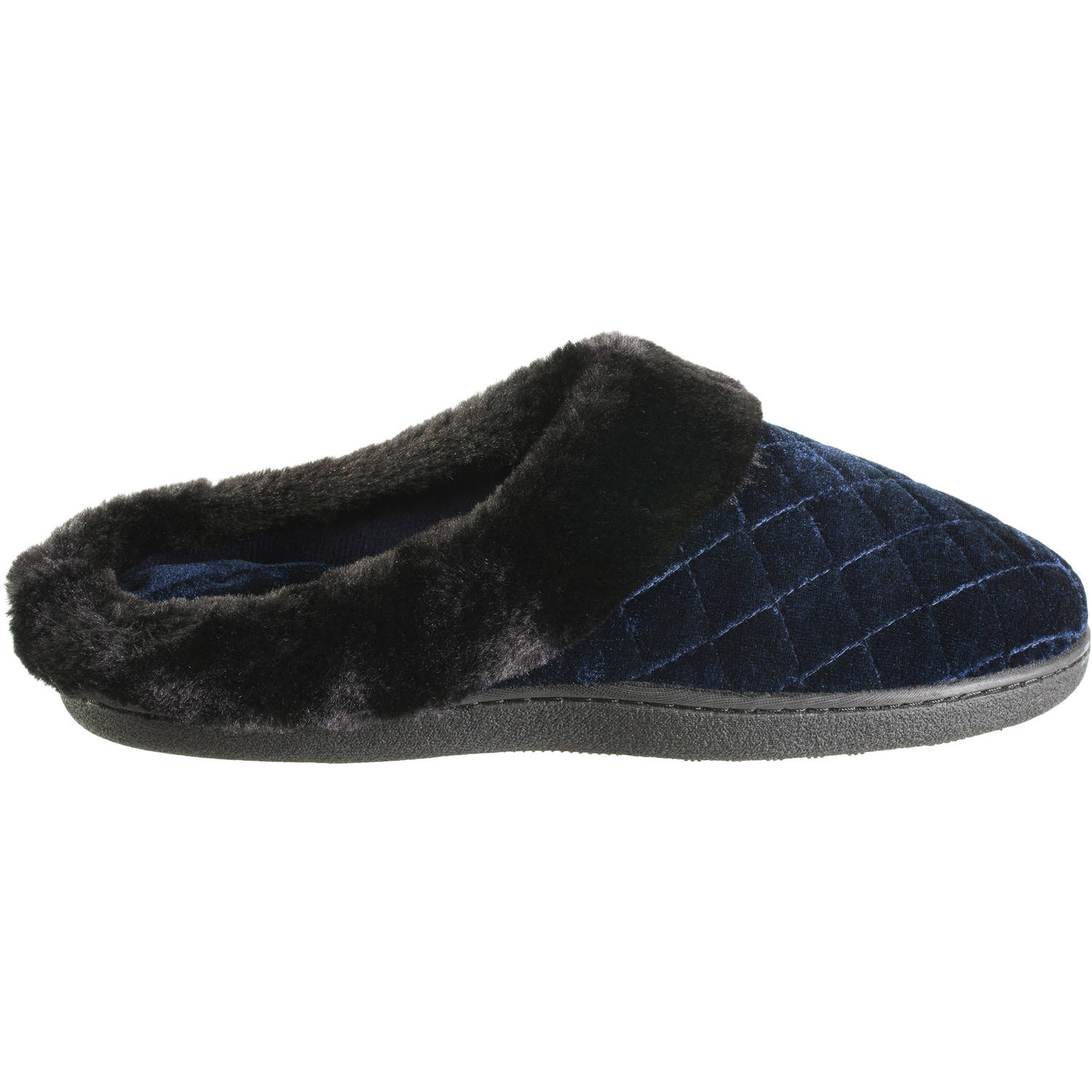 Essentials by Isotoner Women's Velour Coco Hoodback Slipper