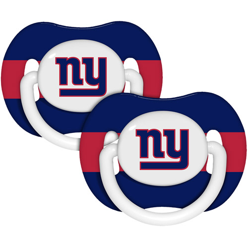 Baby Fanatic NFL 2-Pack Baby Pacifiers, New York Giants