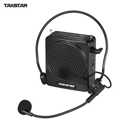 TAKSTAR E188 10W Portable Digital Voice Amplifier Amp Rechargeable with Headworn Microphone LINE Input for Tour Guides Teachers Presentations Market Promotion ()