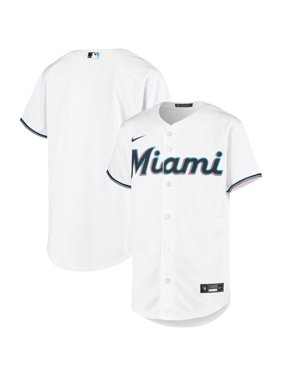Miami Marlins Nike Youth Home 2020 Replica Team Jersey - White
