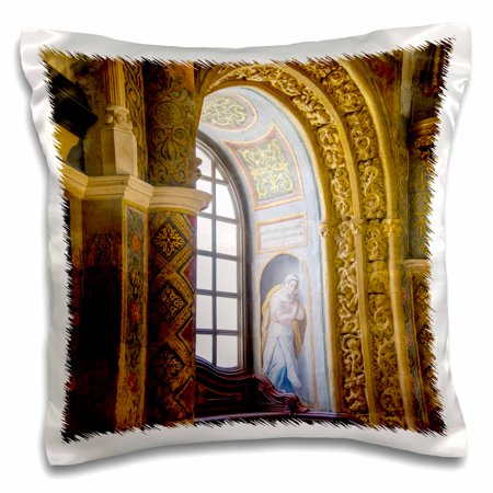 3dRose Portugal. Tomar Castle, Knights of the Templar fortress. - Pillow Case, 16 by 16-inch