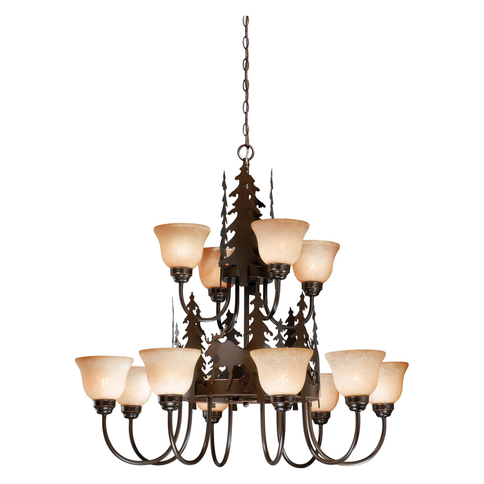 Vaxcel Yellowstone CH55612BBZ Chandelier