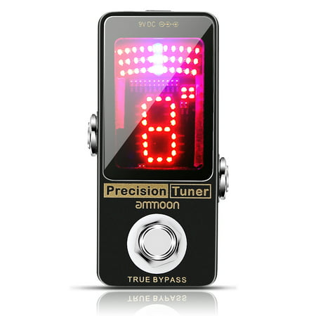 ammoon Chromatic Tuner Pedal Large LED Display Full Metal Shell with True Bypass for Guitar Bass