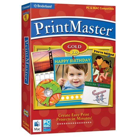 Made Ez Software - PrintMaster Gold 2.0 Design Software for Windows/Mac
