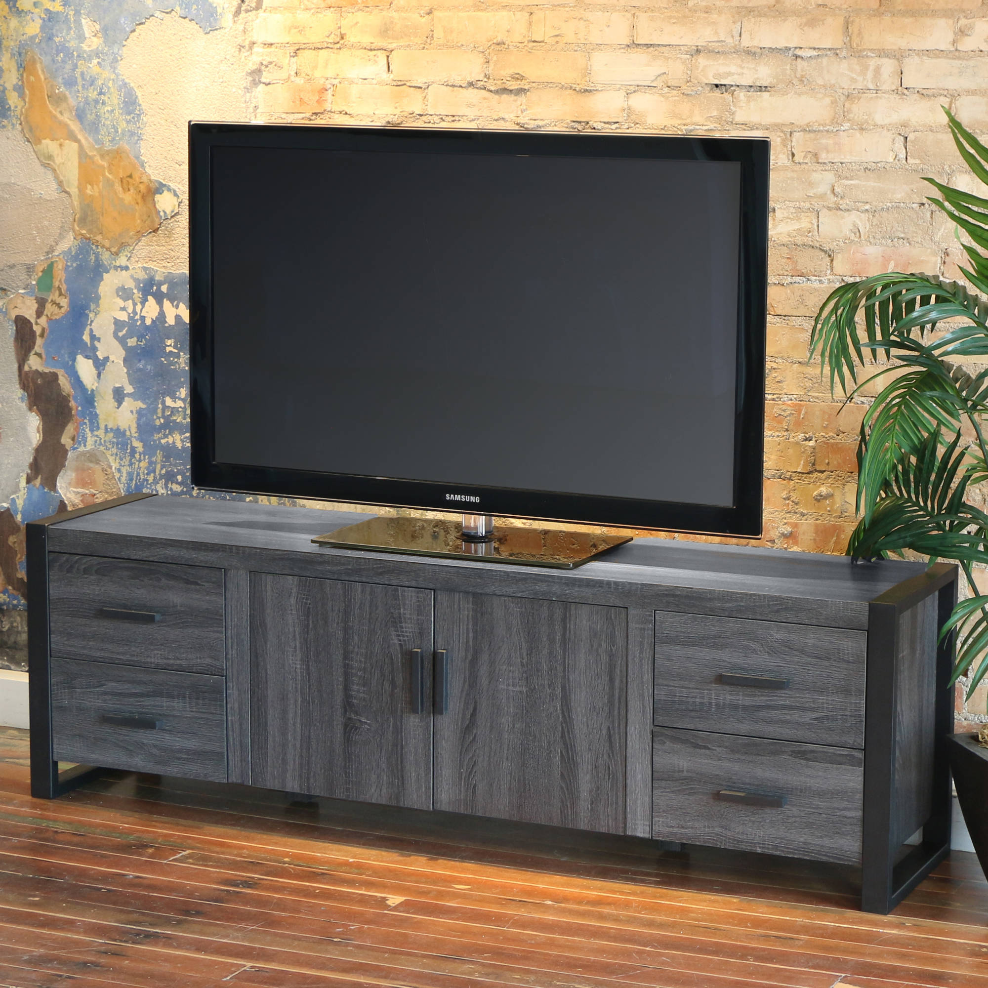"Walker Edison Reclaimed Wood TV Stand for TVs up to 70"", Multiple Finishes"