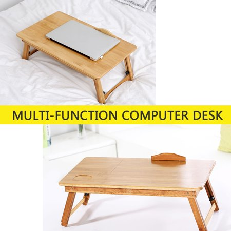 Adjustable Portable Folding Table Bed Desk Stand With Drawer For Computer Laptop Notebook PC(Wood) - image 10 of 10