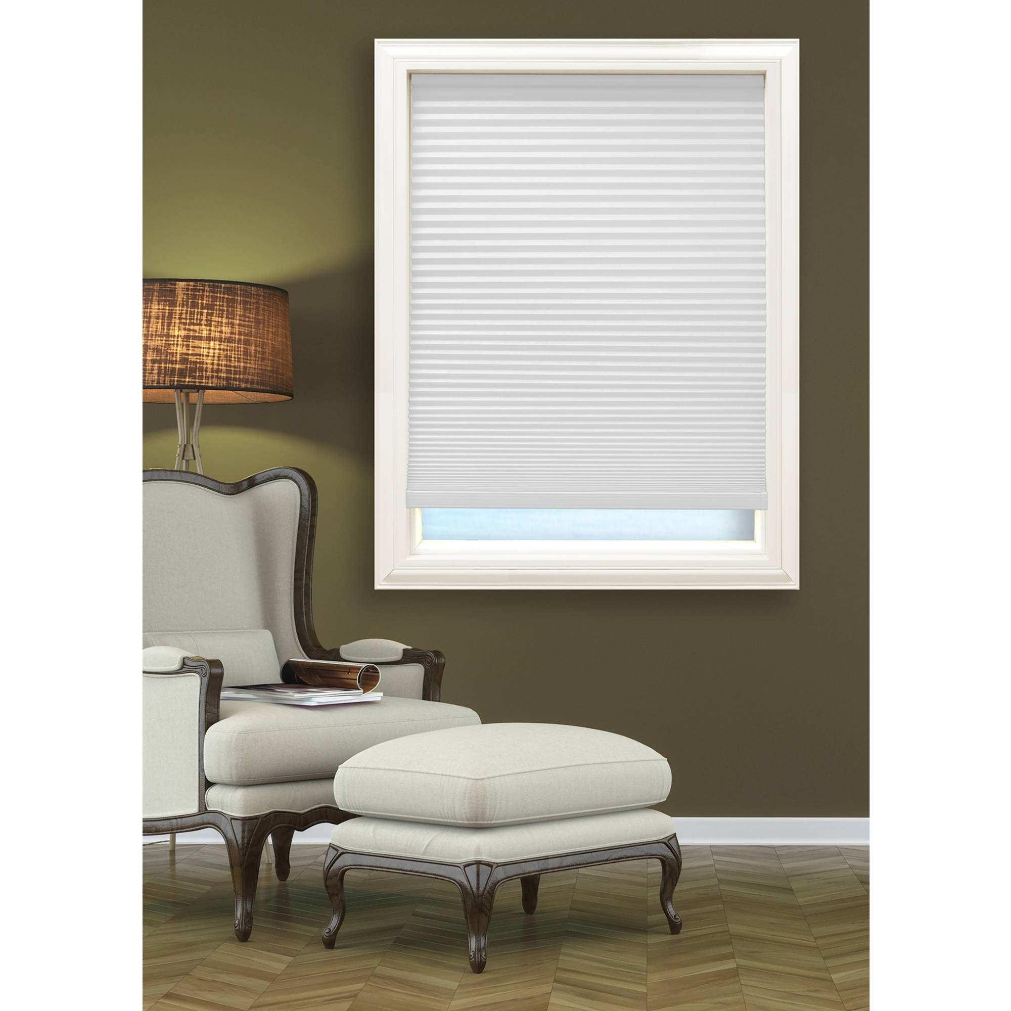 Richfield Studios Cordless Blackout Cellular Shade, Cool White