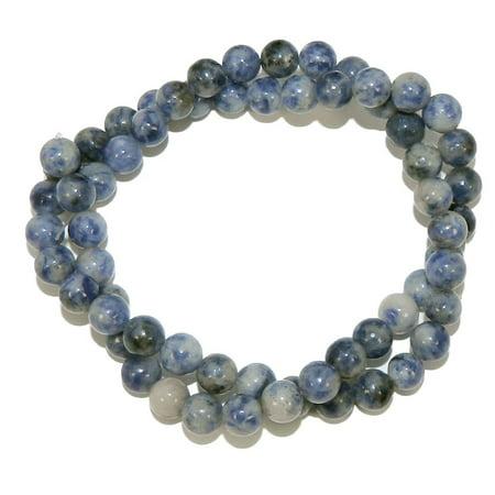 Lapis Gemstone Round Bead (4mm Denim Lapis Natural Round, Loose Beads, 40cm 15 inch Stone)