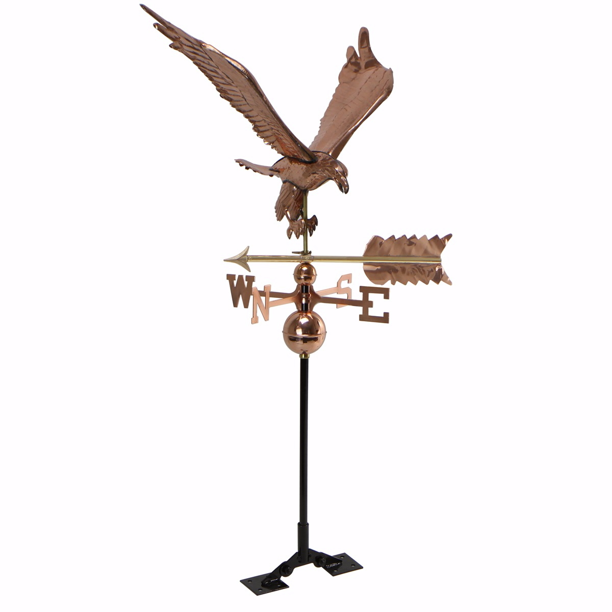 "STKUSA 26"" Vintage Weathervane Eagle Copper, Roof Mount by"