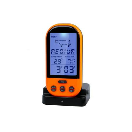 fashionhome Wireless Remote Control Grill Thermometer ...