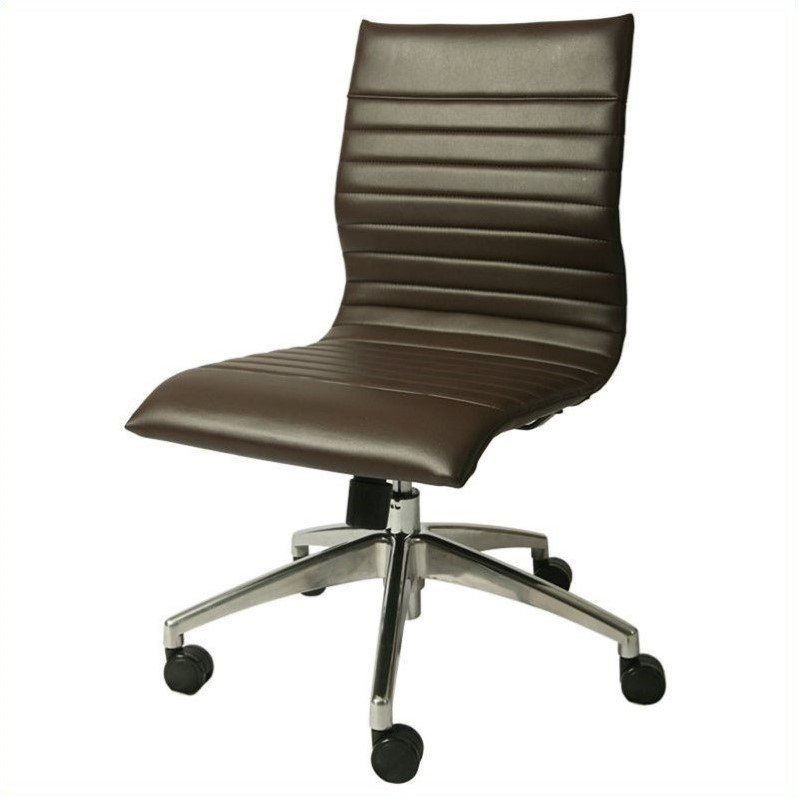 Pastel Furniture Janette Armless Office Chair In Espresso