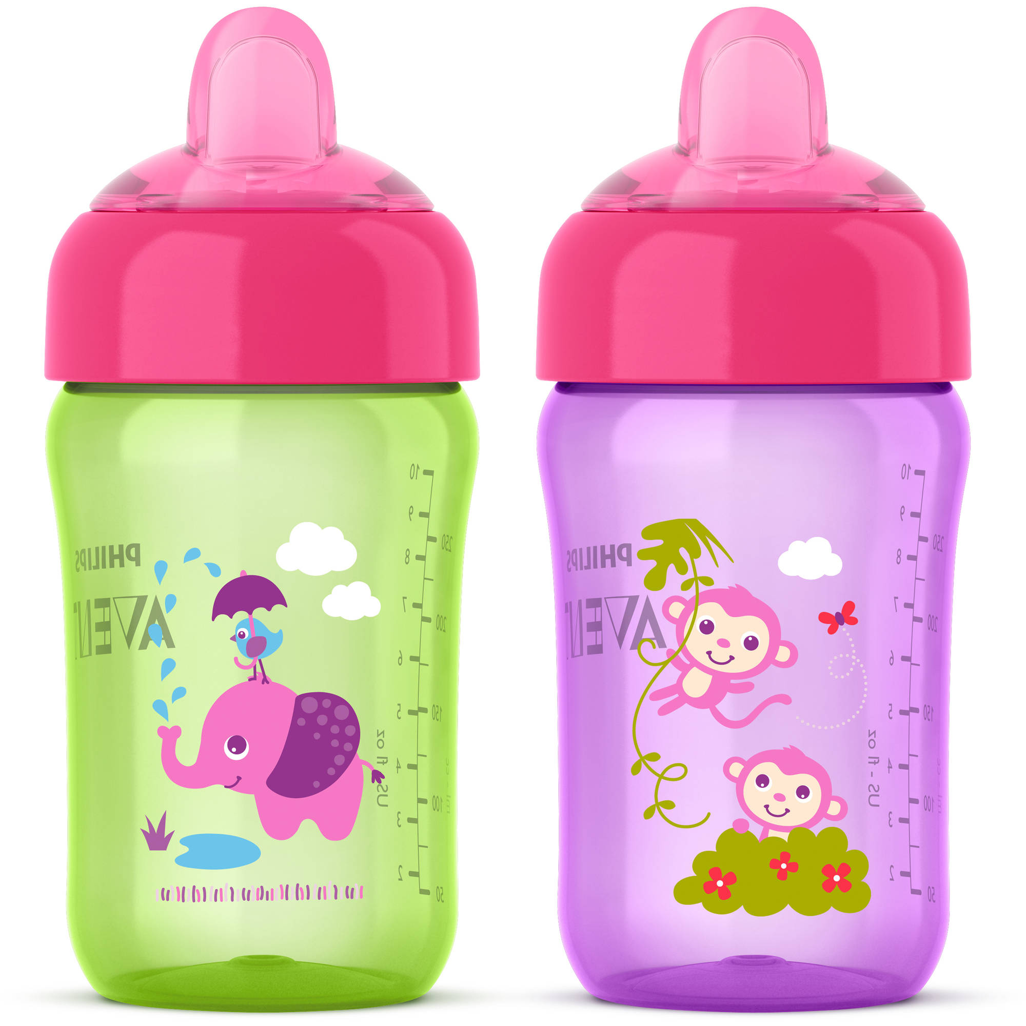 Philips Avent My Sip N Click Cup Stage 2 Soft Spout Sippy Cup - 2 pack
