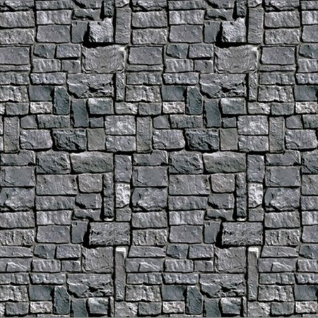 Stone Wall Backdrop Halloween Decoration (Halloween Classroom Decorations)