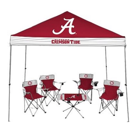 University of Alabama Crimson Tide Tailgate Kit - Canopy - 4 Chairs -