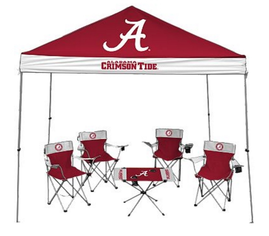University Of Alabama Crimson Tide Tailgate Kit   Canopy   4 Chairs   Table