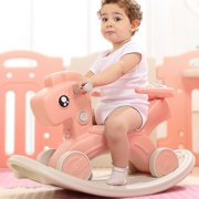 2-in-1 Kids Rocking Horse, Infant Ride-on Chair Animal Rocker Toddler Ride Toy for Boys & Girls Ages 1 to 6 Years Indoor Outdoor Playing, Nursery Child Birthday Gift