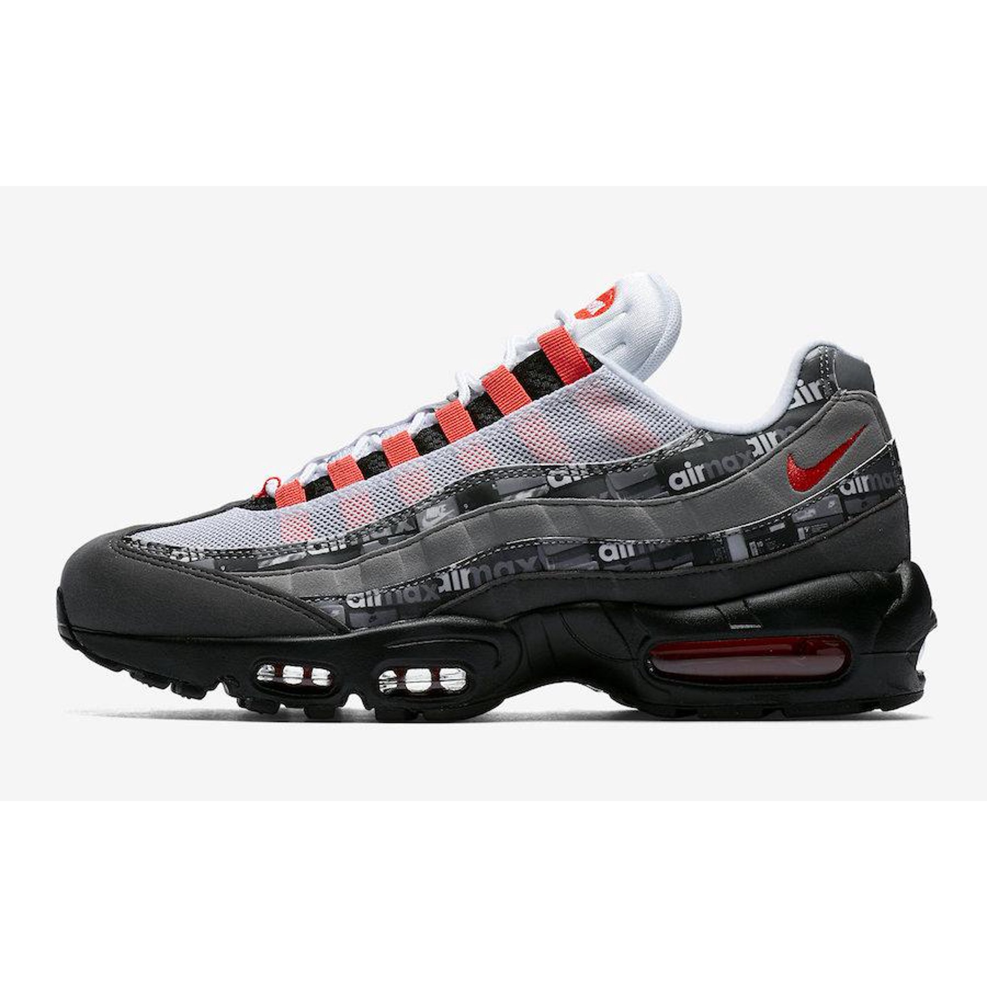 688e4d5f Buy Mens Nike x Atmos Air Max 95 We Love Nike Black Bright Crimson ...