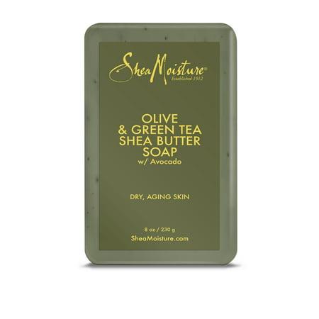 SheaMoisture Olive & Green Tea Shea Butter Soap, 8 (Best Shea Butter Soap)