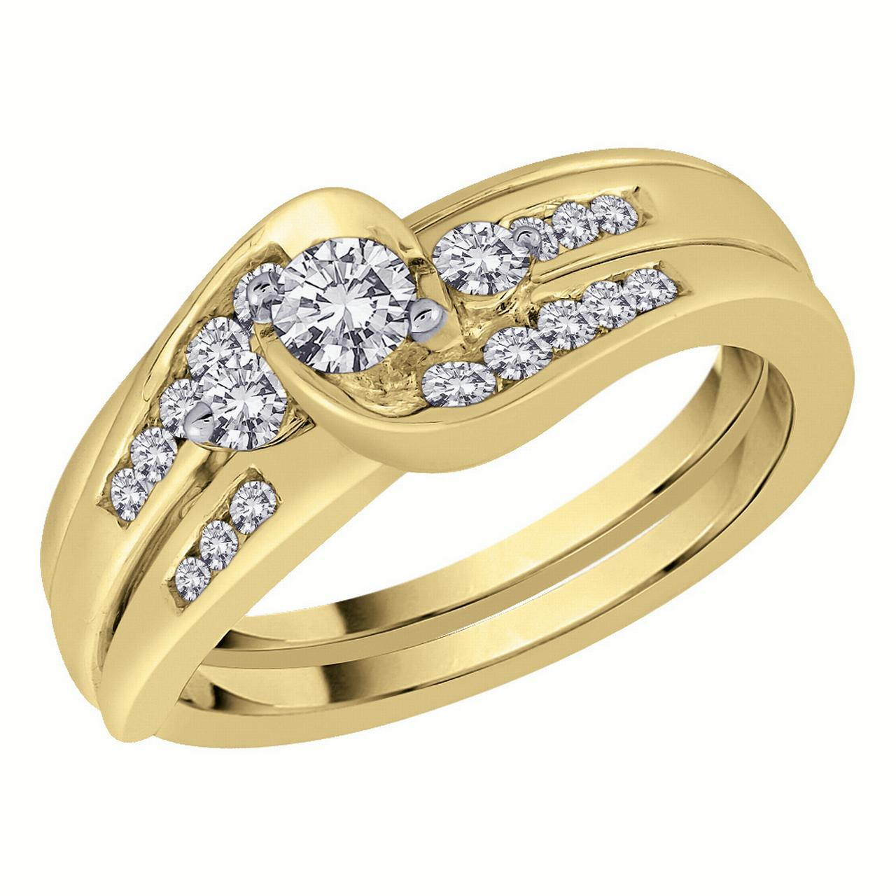 10K Yellow Gold, Diamond Bridal Engagement Set (1 2 cttw) by Katarina
