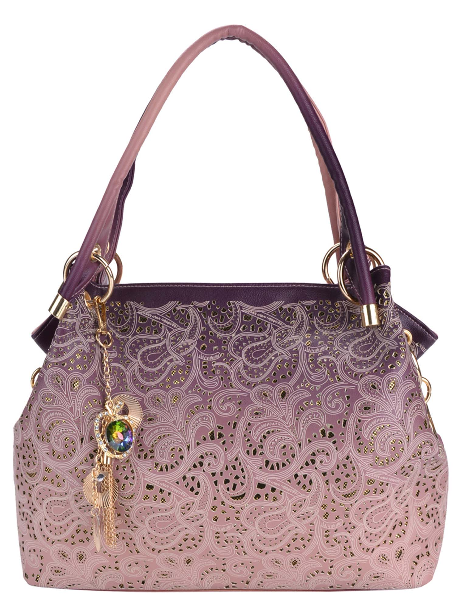 Womens Leather Shoulder Messenger Bags Handbags Purse Tote Hobo Bags Hollow out