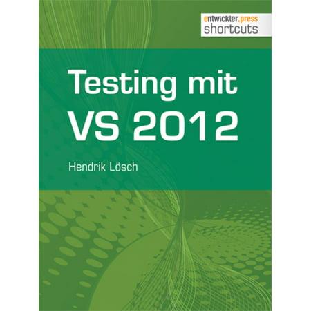 Testing mit Visual Studio 2012 - eBook