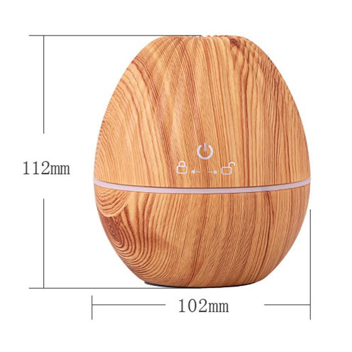 Portable USB  Humidifier Air Purifier Ultrasonic Mute Mist Wood Grain Aromatherapy Humidifier Air Purifier Caroj - image 4 de 7