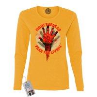 The Walking Dead Fight the Dead Hand Womens Long Sleeve Shirt