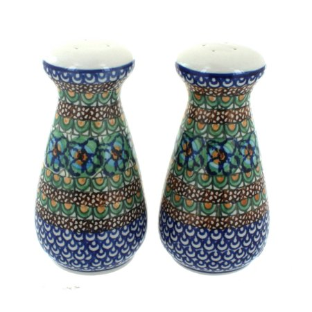 Polish Pottery Mardi Gras Large Salt & Pepper Shakers