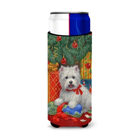 Westie Christmas Packages Ultra Beverage Insulators for slim cans ASA2080MUK 1 X Cyan Package