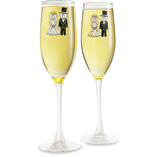 Personalized Wedding Character Champagne Flutes