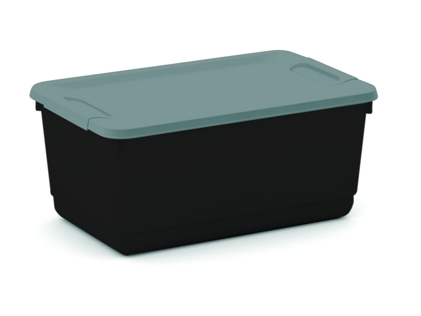 Mainstays 5.3 Quart Storage Box, Black & Silver