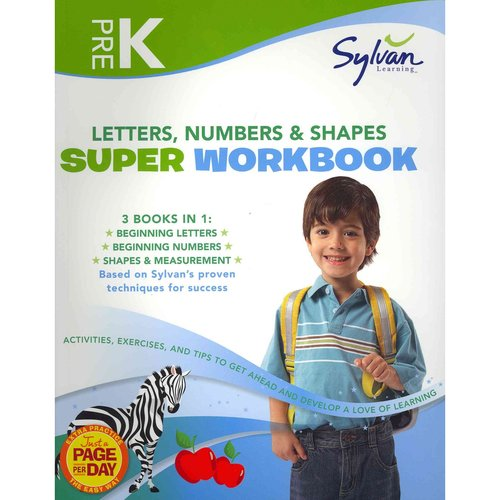 Pre-K Letters, Numbers & Shapes Super Workbook