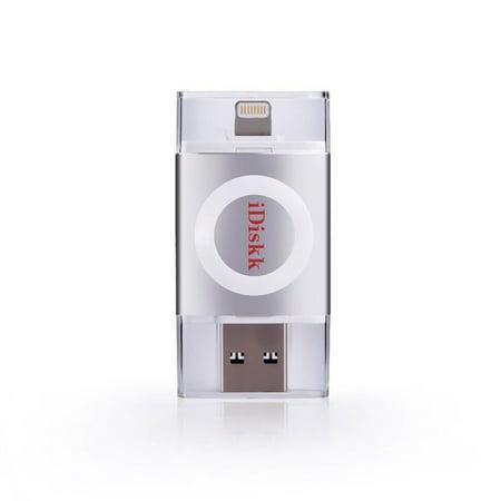 Apple Mfi Certified  Mignova  Idiskk Usb Flash Drive For Iphone  Ipad And Ipod  Usb3 0 And Lightning Connector  32Gb Grey