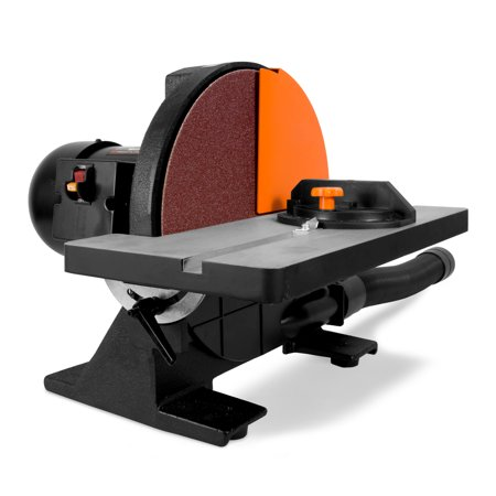 WEN 12-Inch Benchtop Disc Sander with Miter Gauge and Dust Collection System