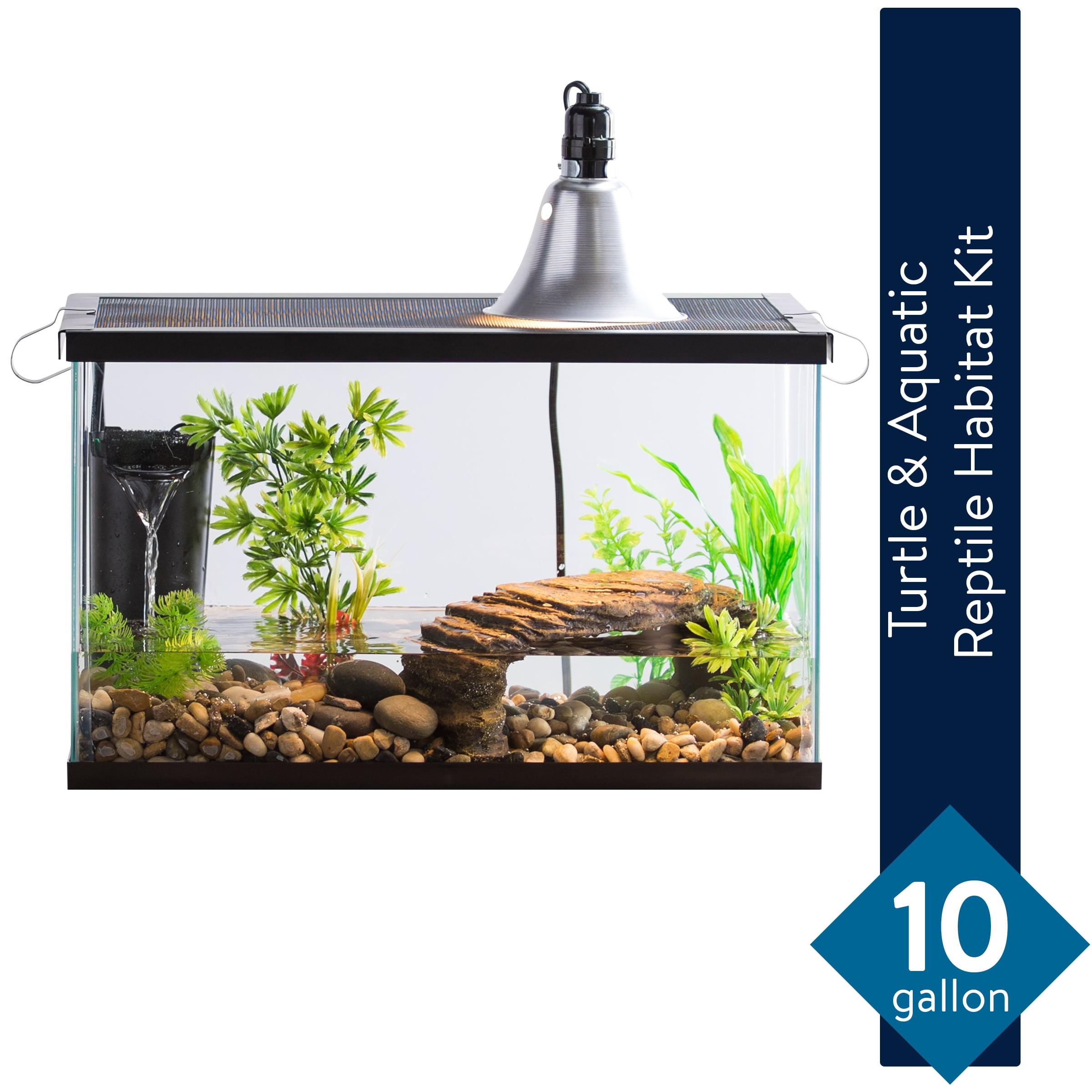 Aqua Culture 10 Gallon Turtle Aquatic Reptile Habitat Starter Kit Walmart Com Walmart Com