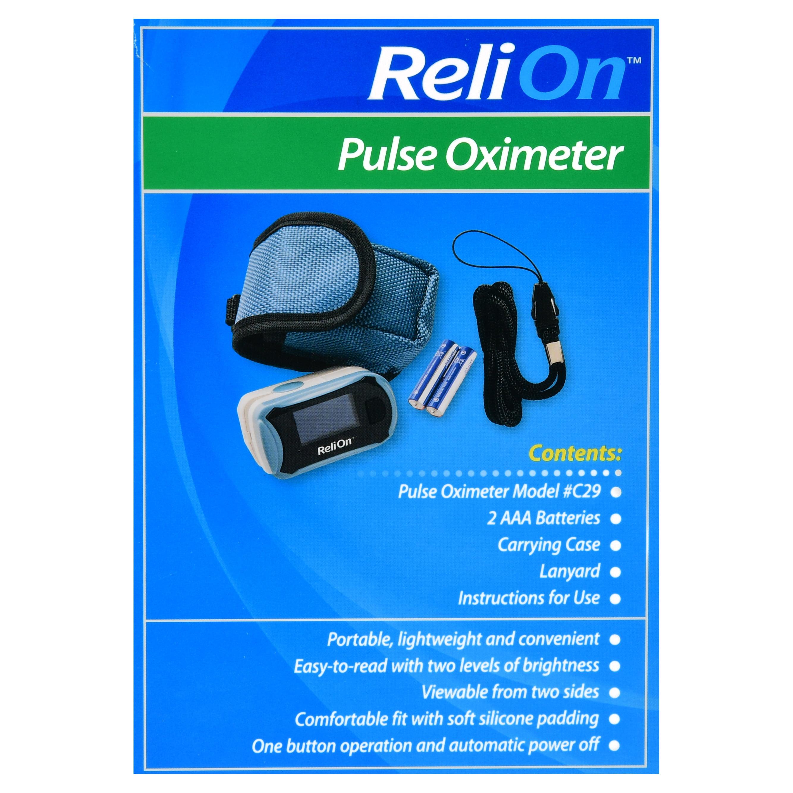 ReliOn Pulse Oximeter - Walmart com