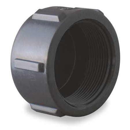BANJO Pipe Cap,1 1/2 In,FPT,Poly,150 PSI,Black CAP150