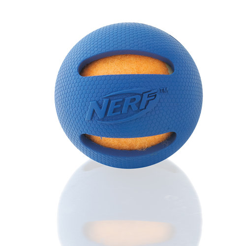 Nerf Pet Blue/orng Rubberized Tnnis Ball