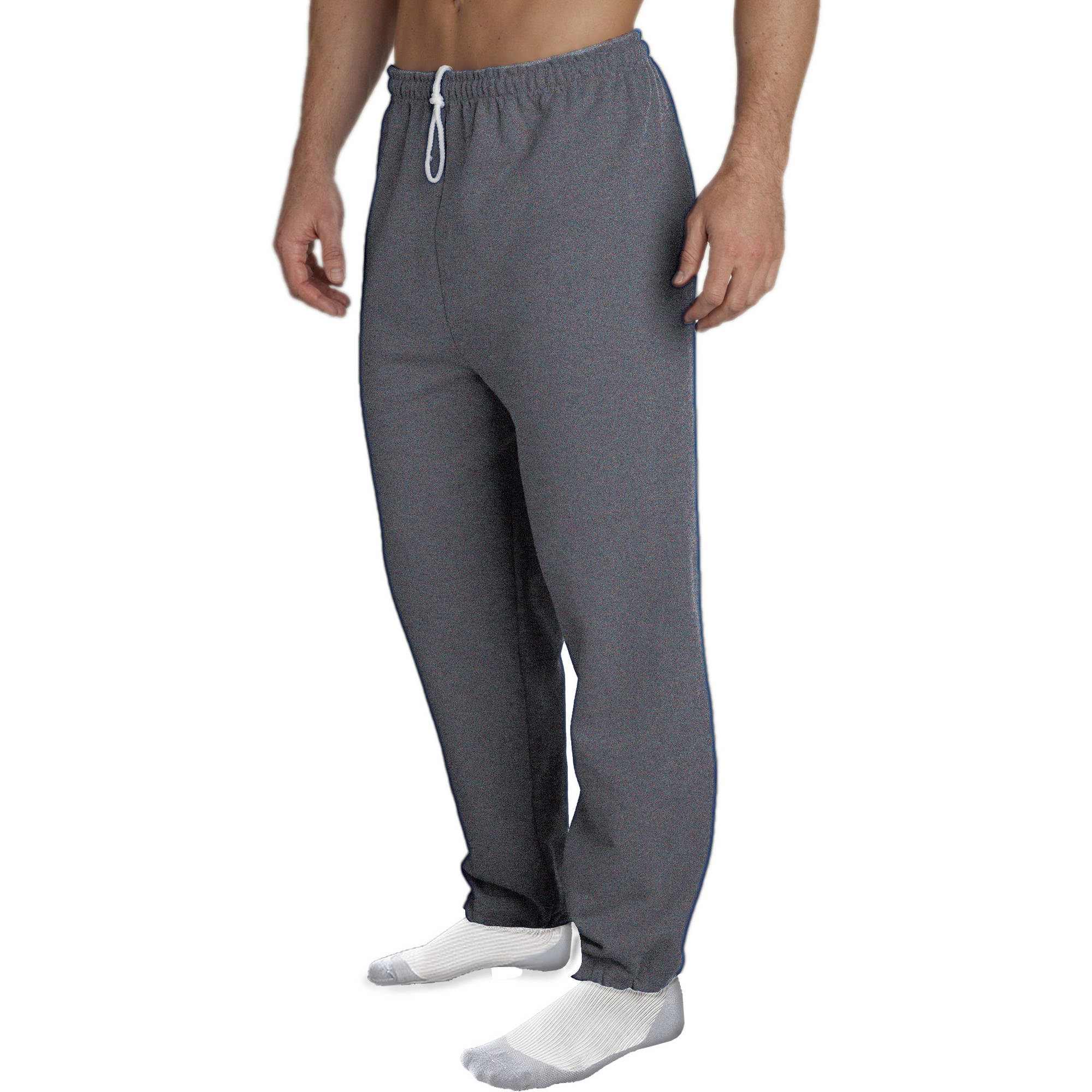 Thick gray sweats plus black tights bend 10